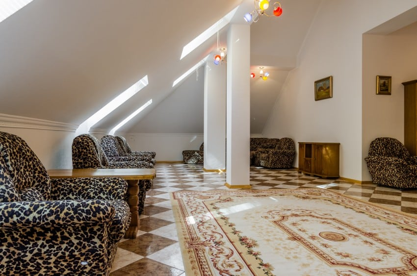 white color attic