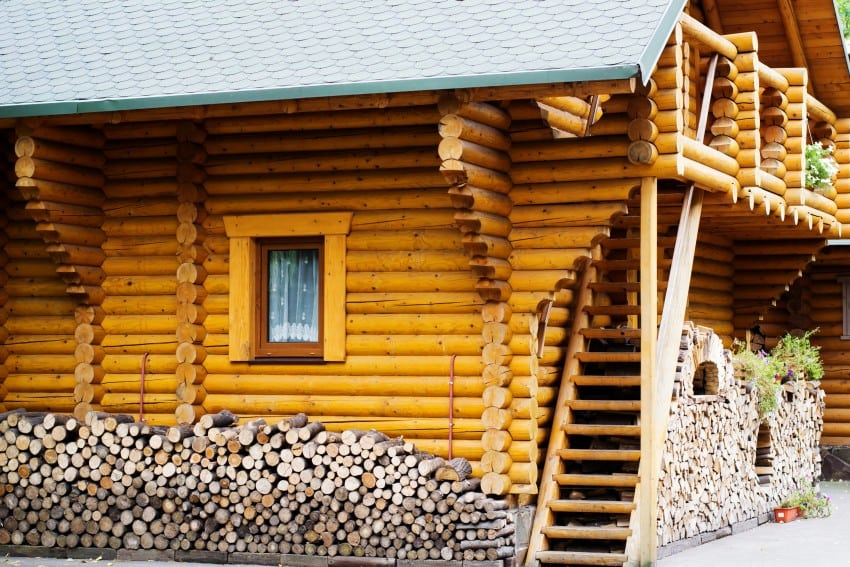 52 luxury log homes great pictures for Log and brick home
