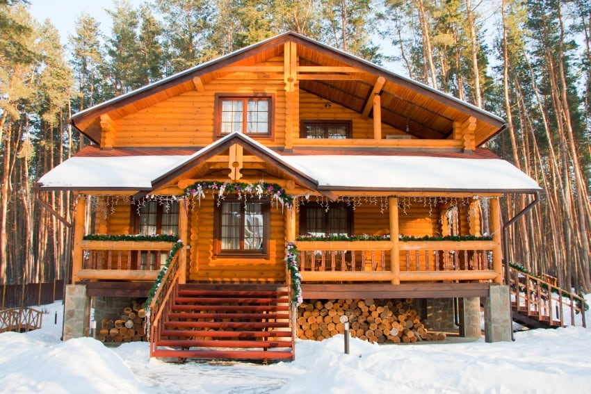 cozy vacation luxury log home