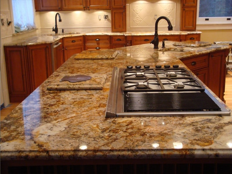 Granite Kitchen Slab : 10 Types of Kitchen Countertops ? Buying Guide