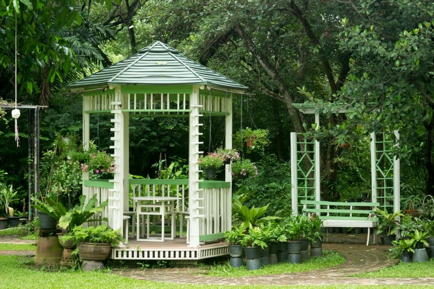 small tiny gazebo