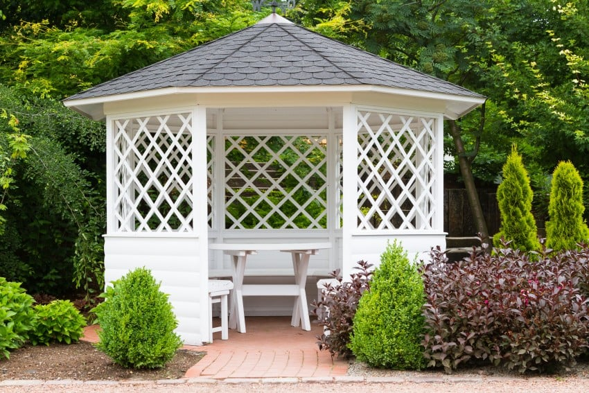 secluded garden kiosk