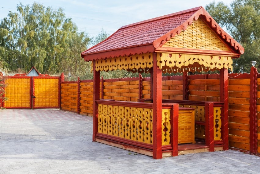 red yellow gazebo