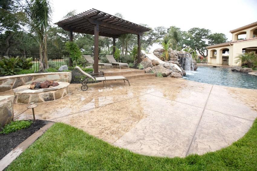 backyard patio pool deck