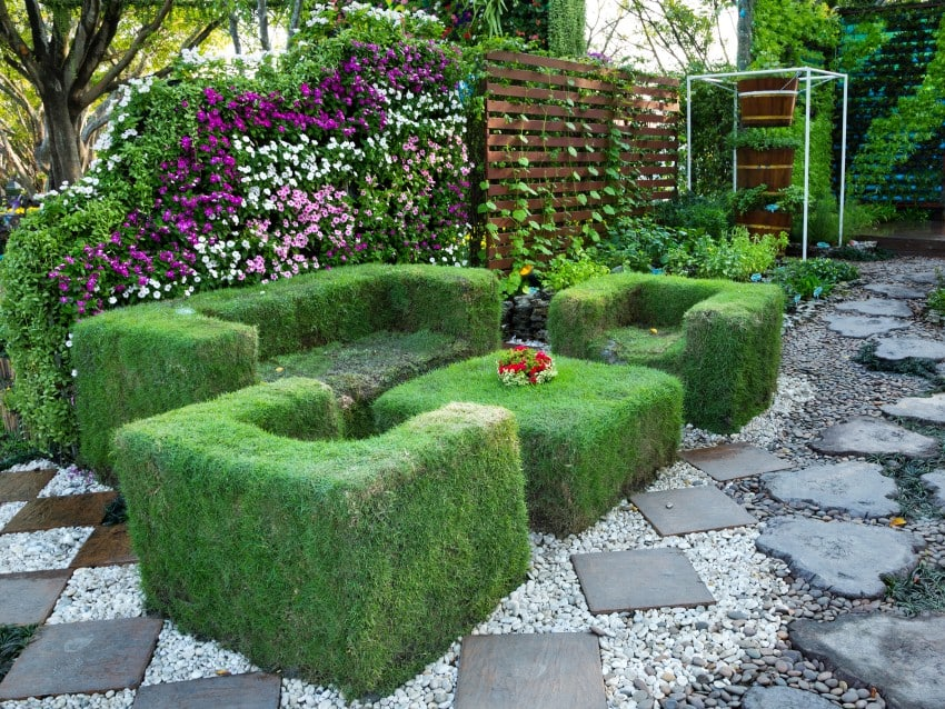 sitting set covered in grass