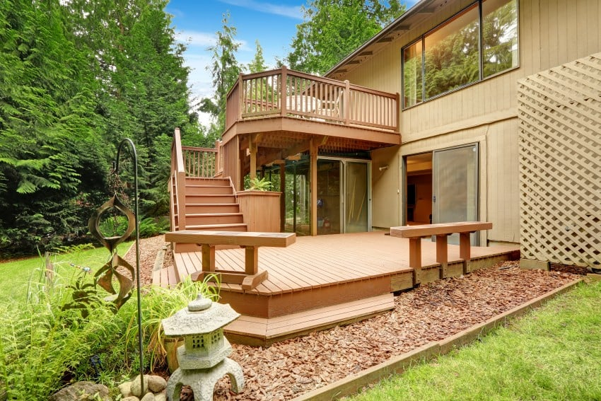 outdoor wooden deck
