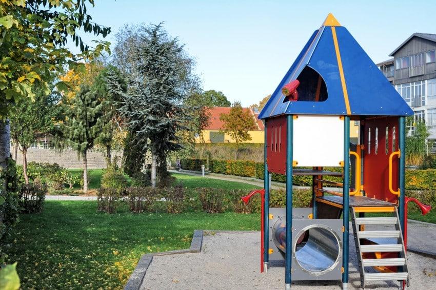 colorful playground back yard