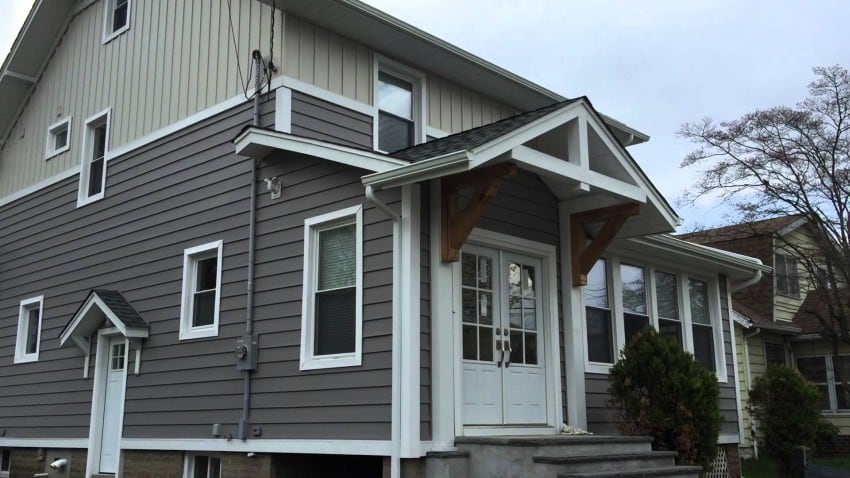 vertical and horizontal siding