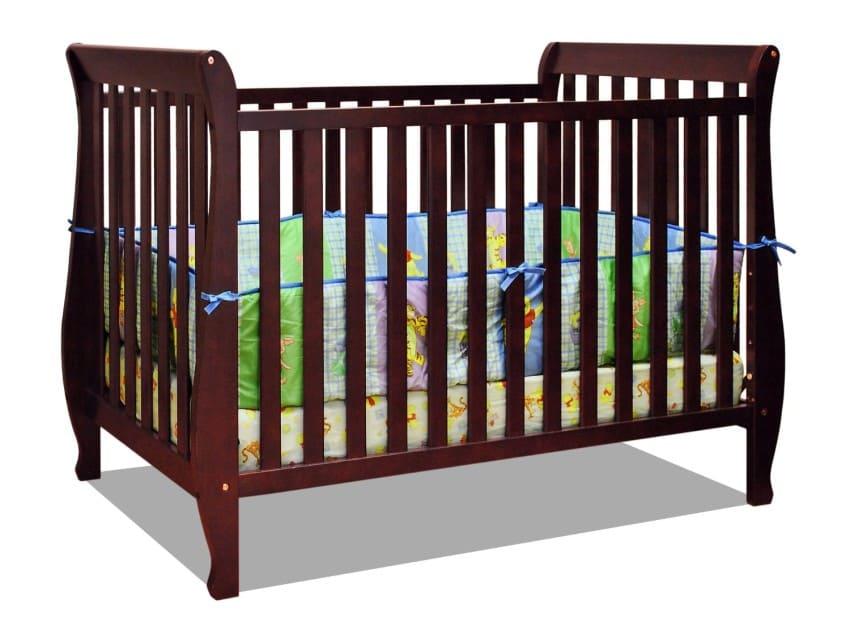 Athena Naomi 4 in 1 Crib with Toddler Rail, Cherry