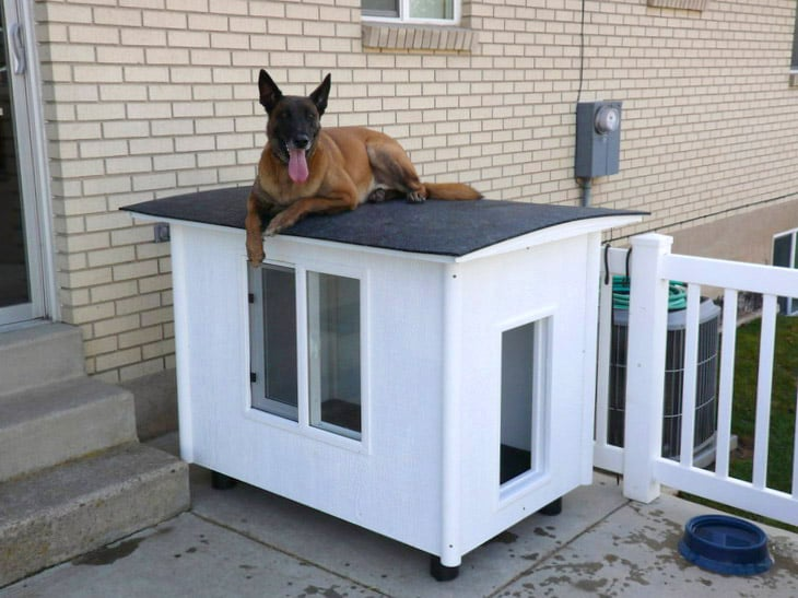 source and full diy instructions httpwwwinstructablescomidthe dog mansion or knock down dog house