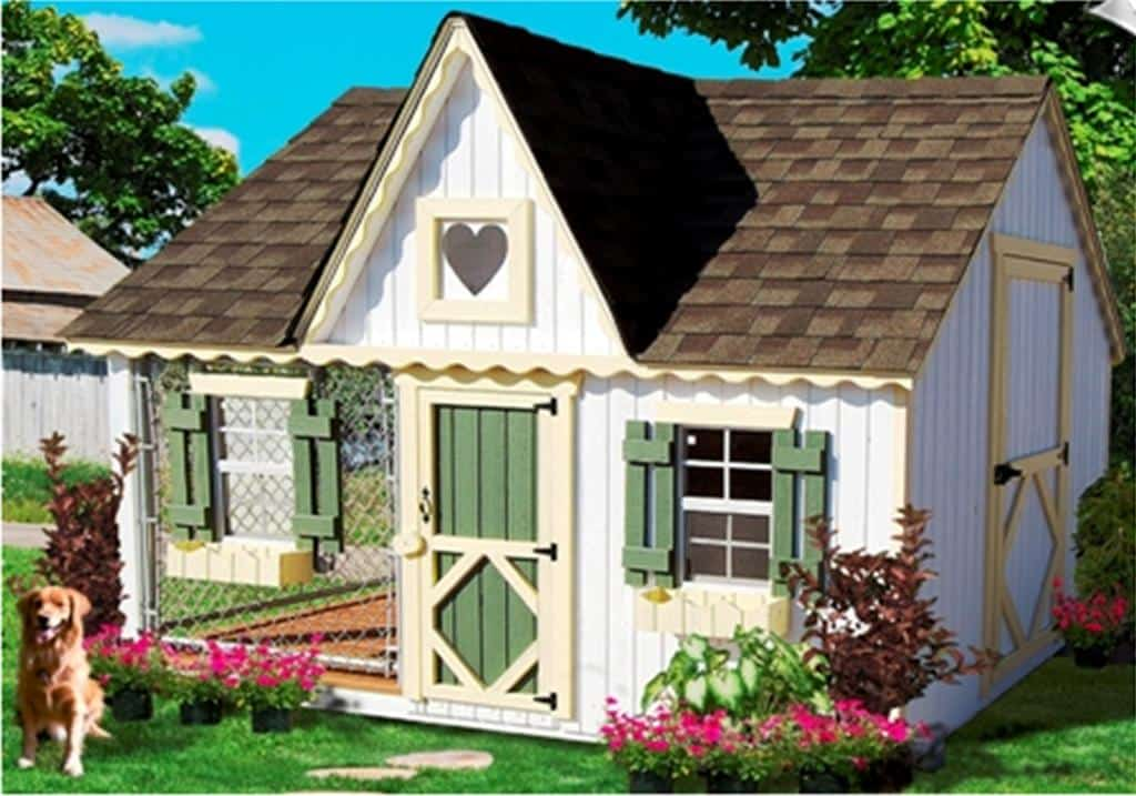 Mansion dog house plans for Diy cottage plans