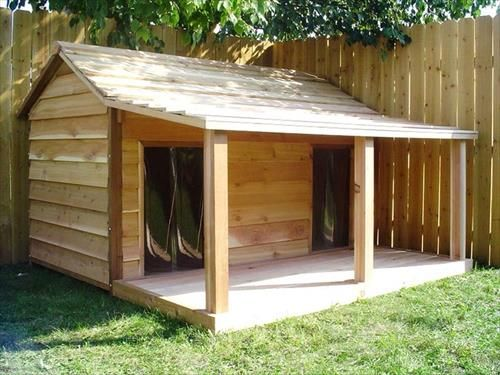 dog house for two large dogs - Dog Kennel Design Ideas