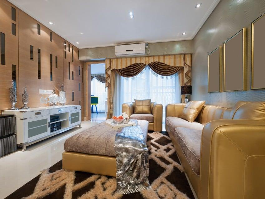 glamorous family room