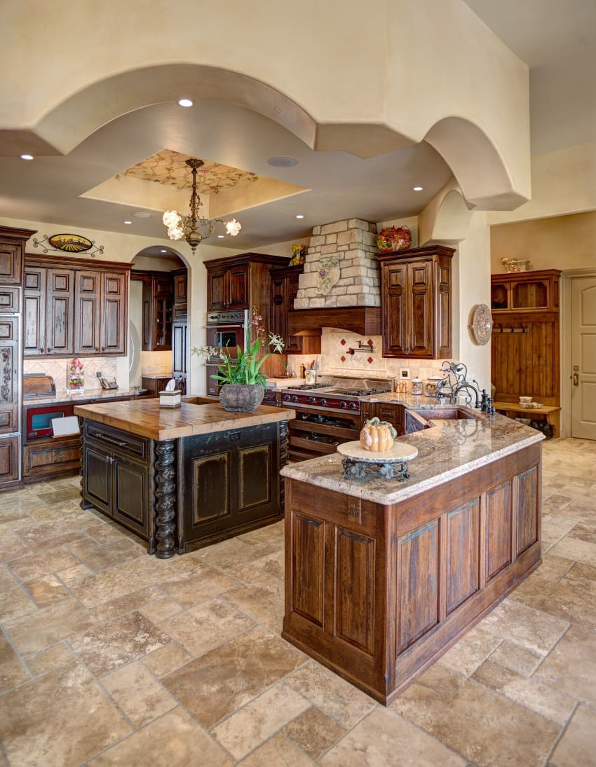 traditional kitchen with rustic feel