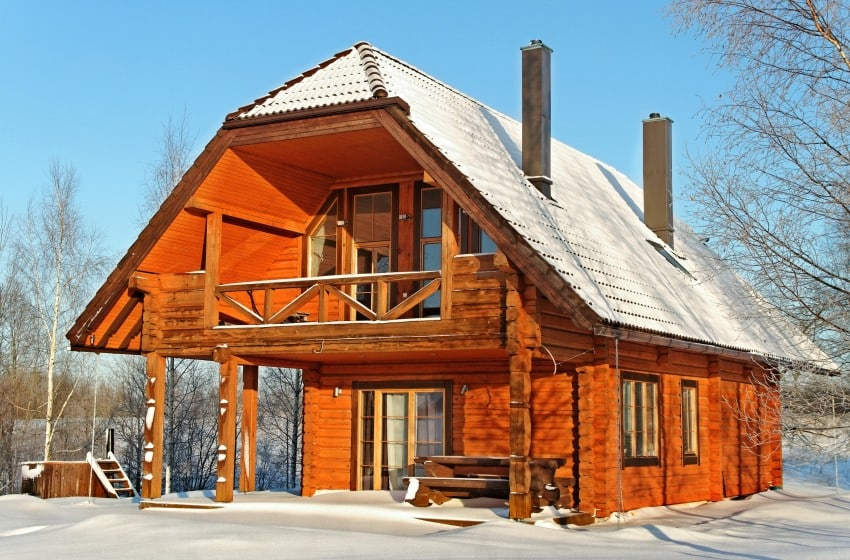 snow-covered winter retreat