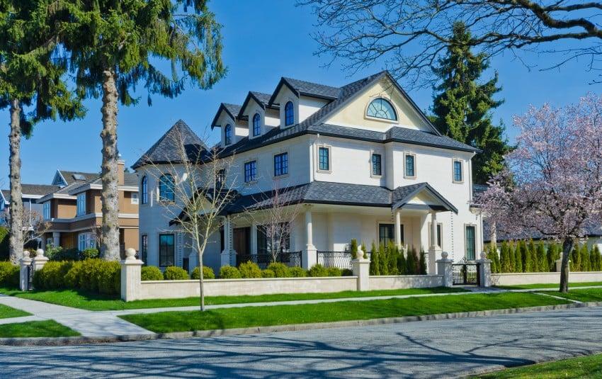suburban big house
