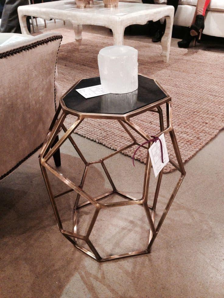 modern geometric coffee table