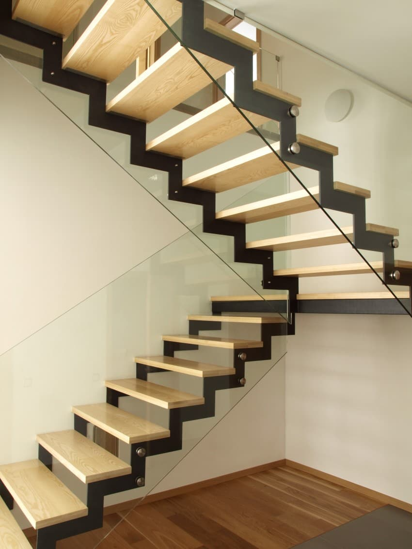 half-turn staircase modern design