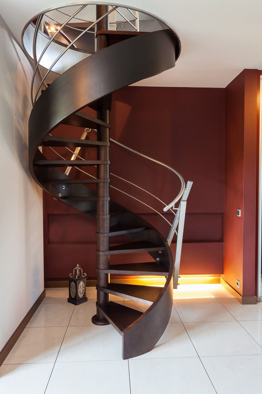 spiral stair in apartment house