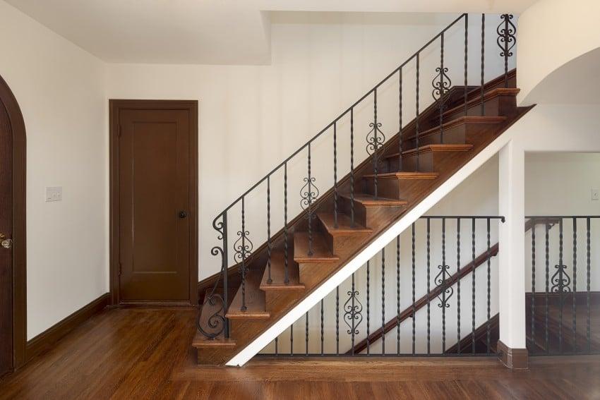 dark wood on stairs