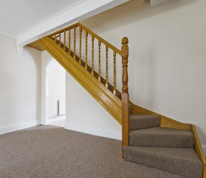 simple custom wooden staircase