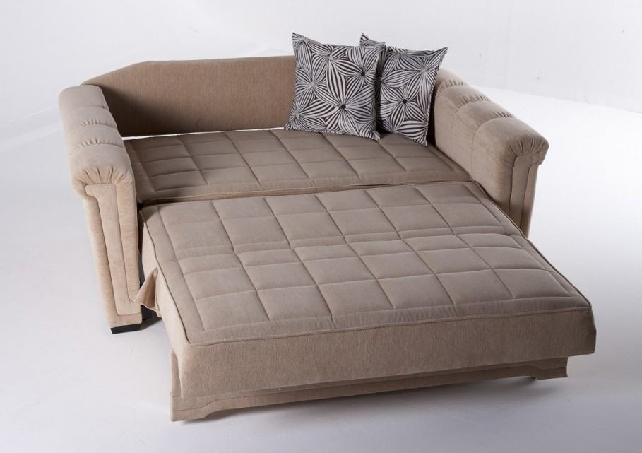 Another option for overnight guests is the sectional sofa that converts to  a bed.