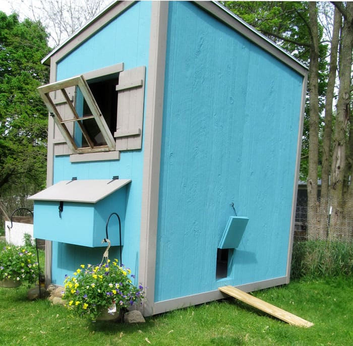 ana white chicken coop shed