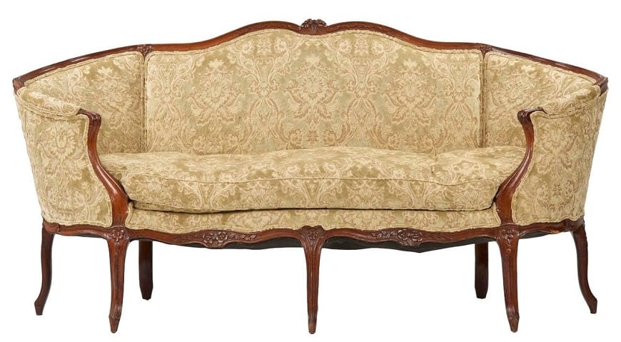 French Cabriole couch