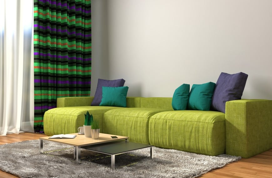Lime color sofa style
