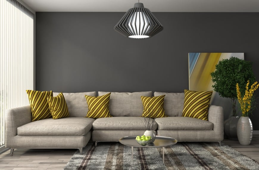 Gray color set of couch