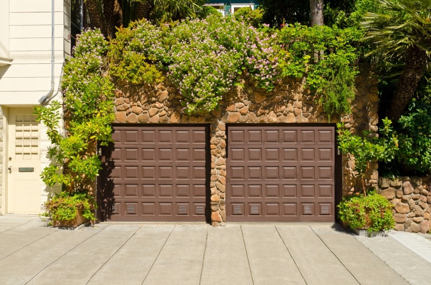 dark brown garage doors