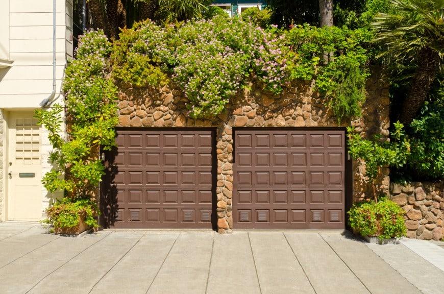 dark brown garage doors