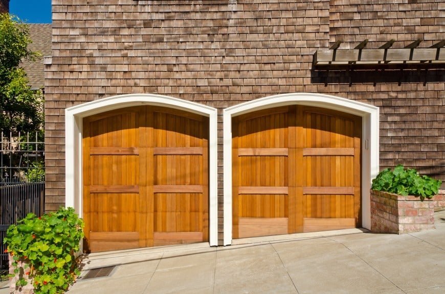 solid wood doors garage