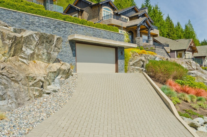 uphill home with garage