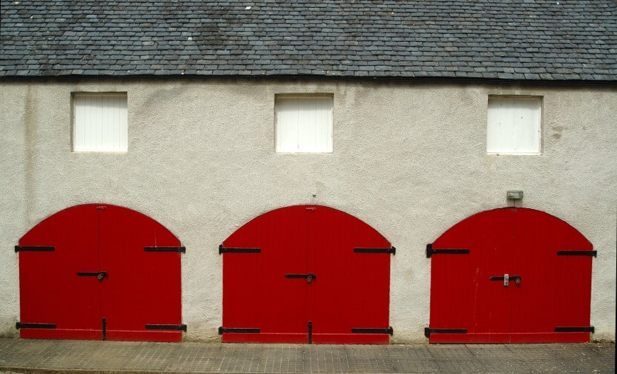 Red Garage Doors