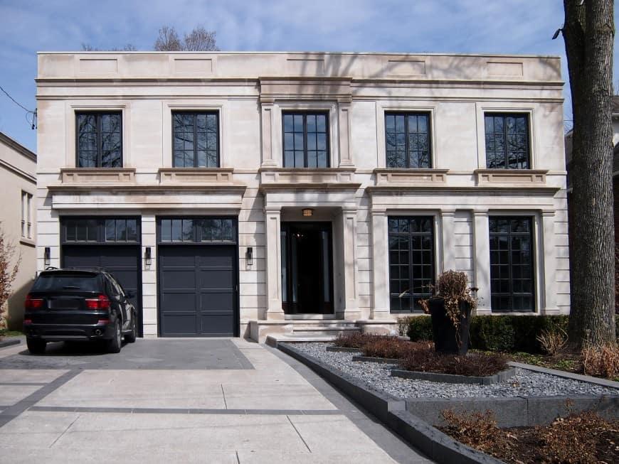 elegant stone house