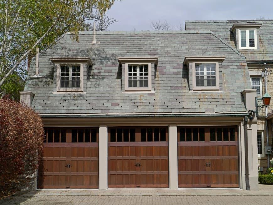 large 3-car garage doors