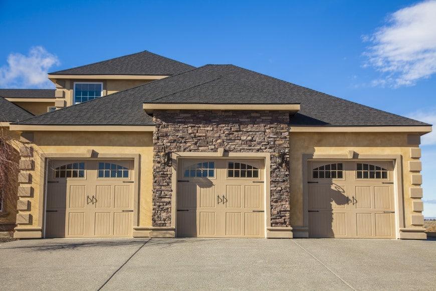 symmetrical front facade house