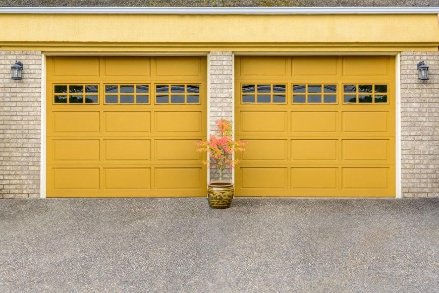 golden yellow garage doors