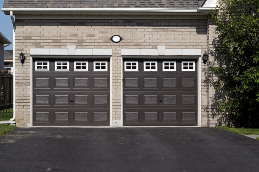 dark-colored doors for your garage