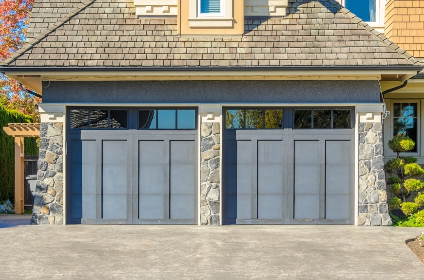 grey garage doors