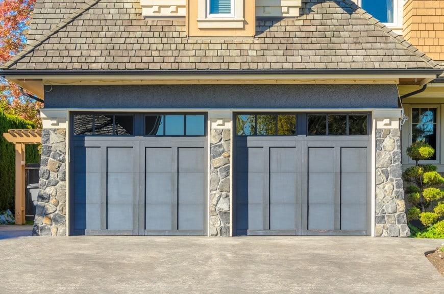 grey garage doors