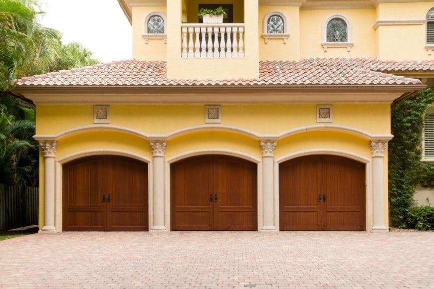 three-car doors in garage