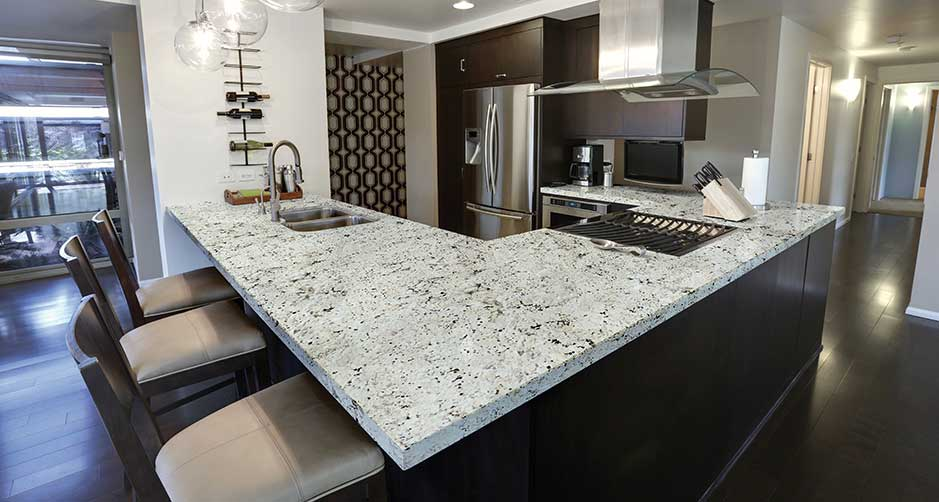 snowfall white granite