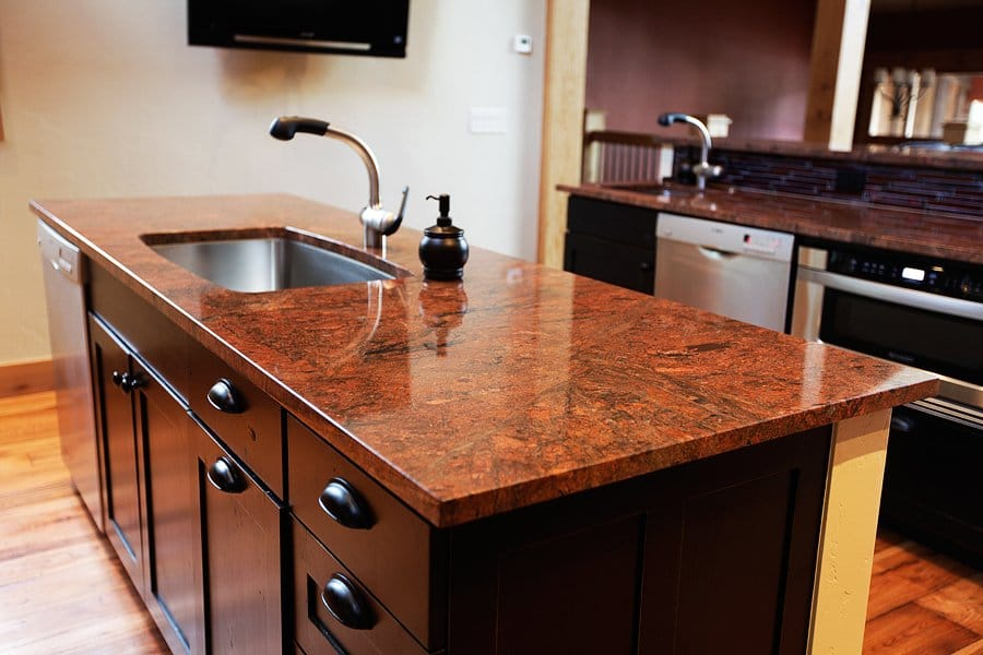 hood countertops colors kitchen how is granite white much island wood traditional green cabinets countertop