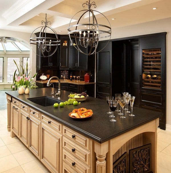 Dark Beige Kitchen Cabinets: Spectacular Granite Colors For Countertops (PHOTOS