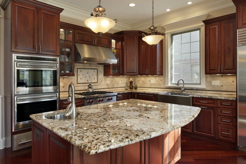 granite colors in kitchen countertops