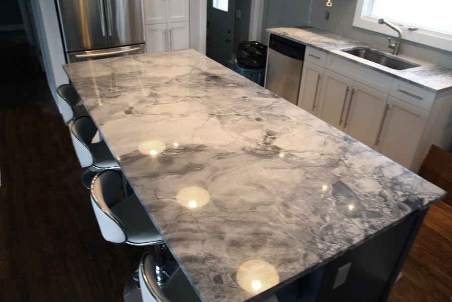 grey granite countertop