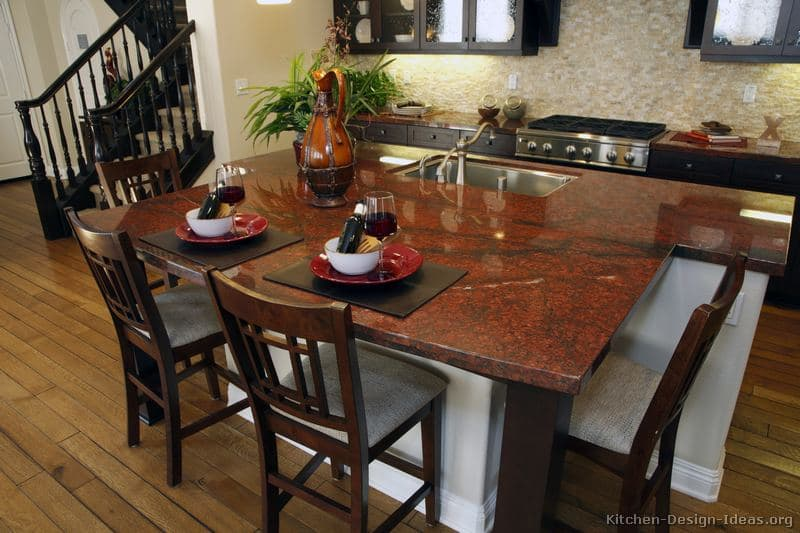 Luxury Red Granite Kitchen Island Countertop