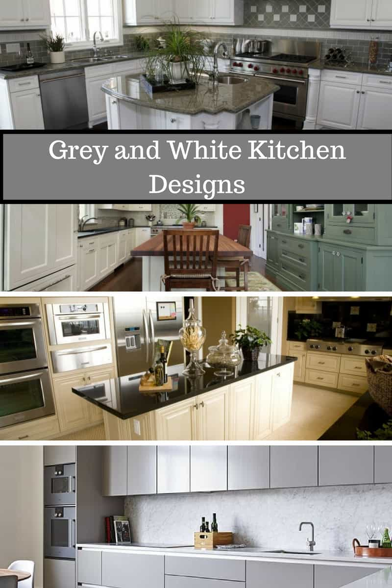 kitchen designs in white and grey colors